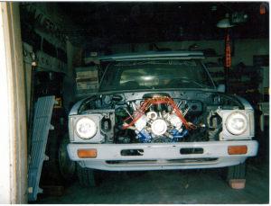 My 1980 Toyota Pickup during the build process.