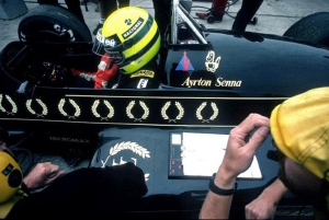 Senna with Lotus in his 98T back in 1986
