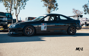 My favorite car of the event was Mike Hatten's Black Integra with TE37's